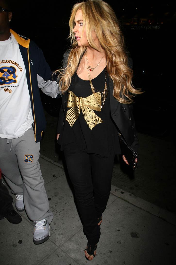 Lindsay Lohan también es rubia…