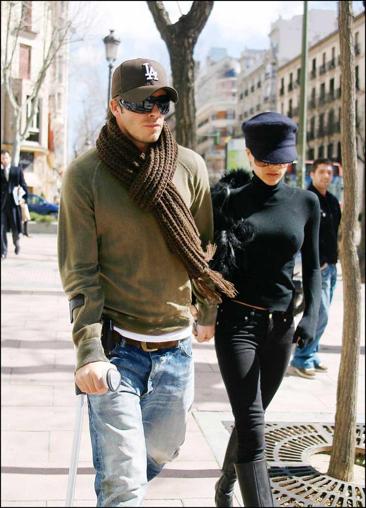 David Beckham y Victoria Beckham en Madrid