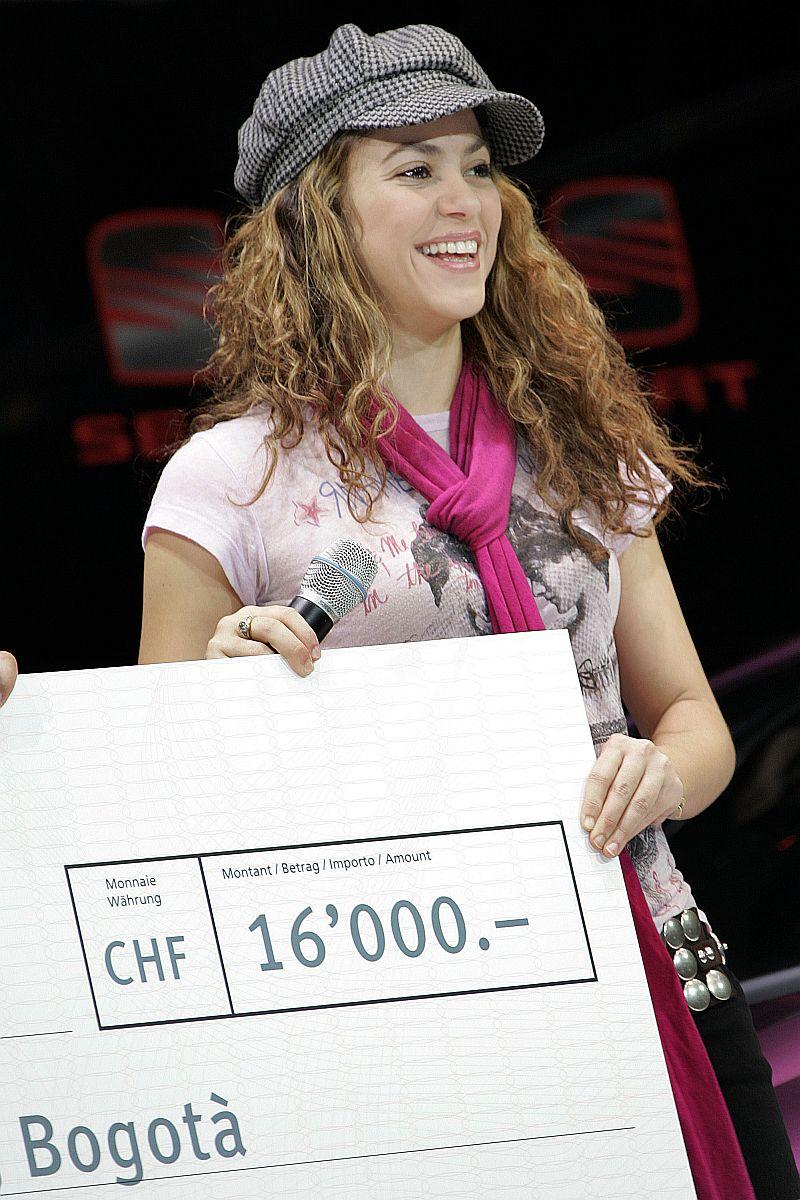 Shakira en el 77 Salón del Automóvil de Ginebra