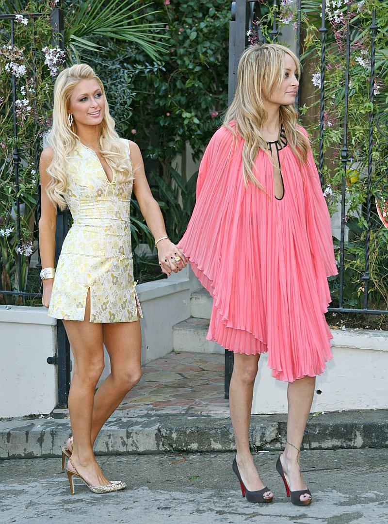 Paris Hilton y Nicole Richie filmando 'The Simple Life'