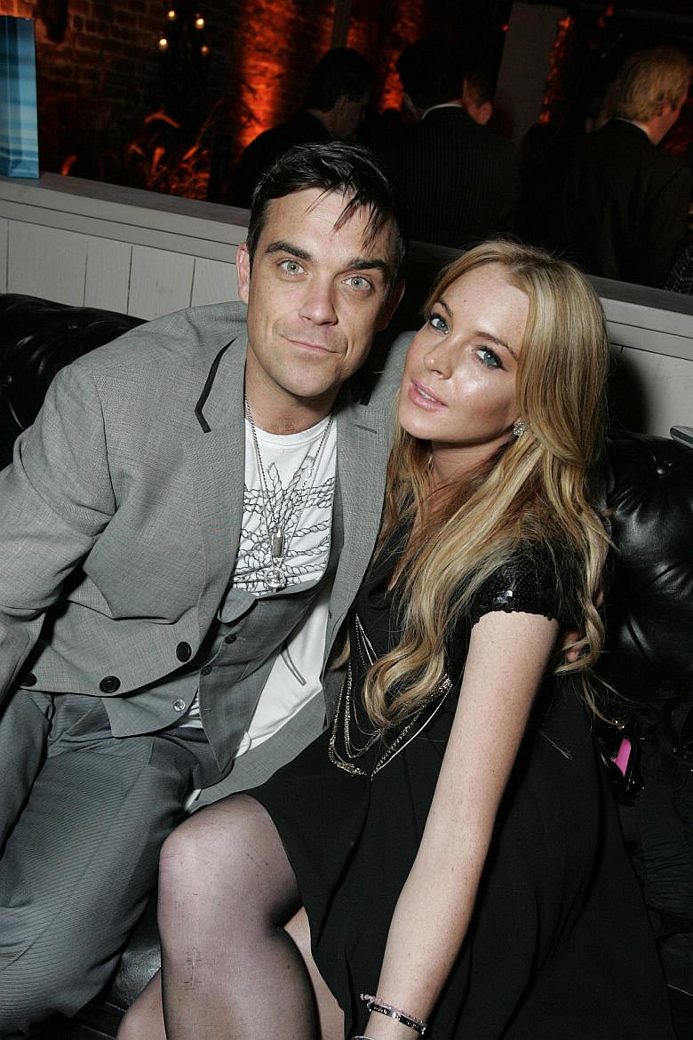 Lindsay Lohan y Robbie Williams