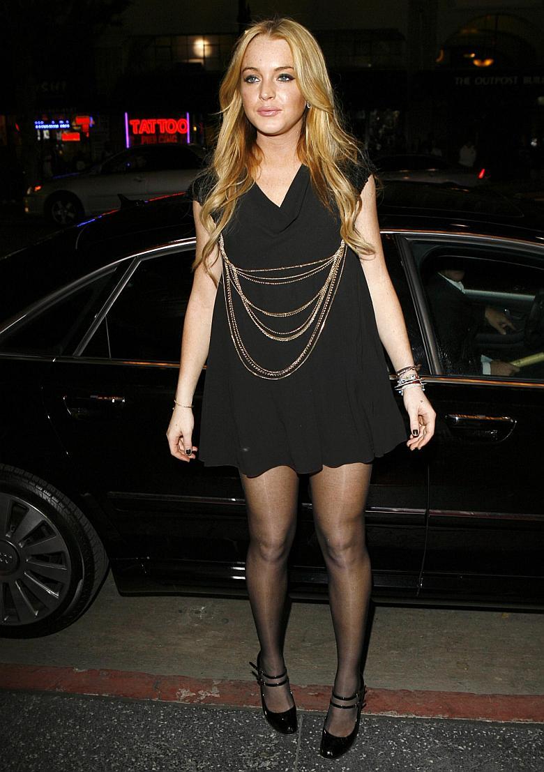 Lindsay Lohan en Tudor after-party
