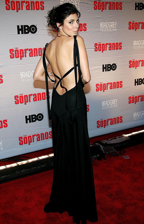 Jamie-Lynn Sigler en la presentacion de Los Sopranos