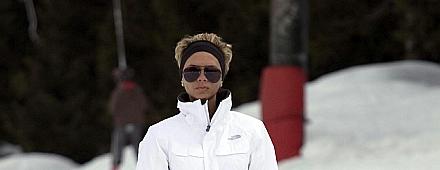 Victoria Beckham Esquiando