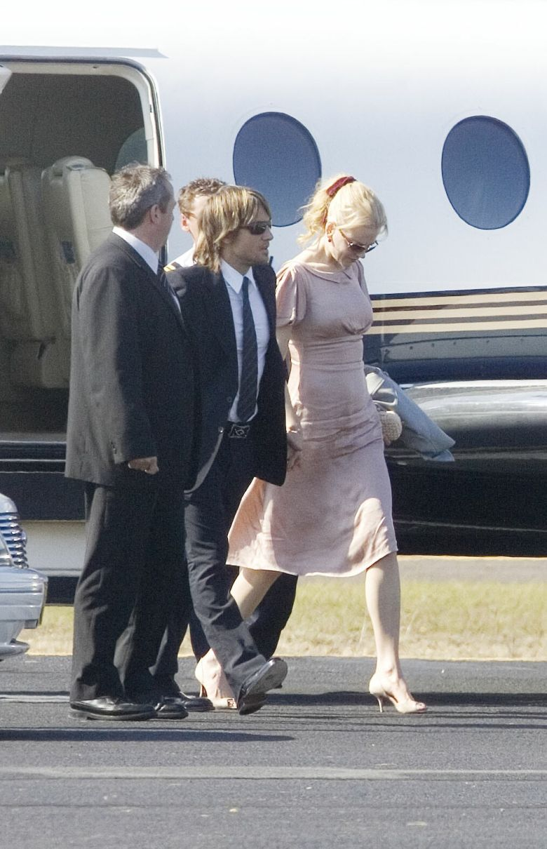 Nicole Kidman a su llegada en Canberra
